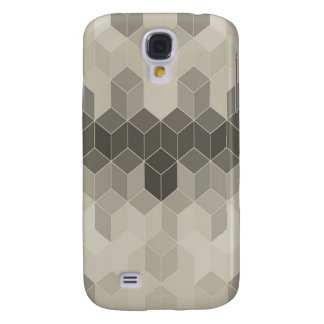 Galaxy S4 Covers Design geométrico do cubo da escala cinzenta