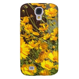 Galaxy S4 Covers Flores amarelas felizes brilhantes em um grupo