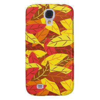 Galaxy S4 Covers Folhas mornas coloridas teste padrão do outono
