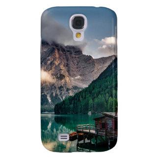 Galaxy S4 Covers Foto italiana da paisagem do lago mountains