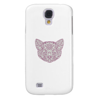 Galaxy S4 Covers Mandala principal do gato