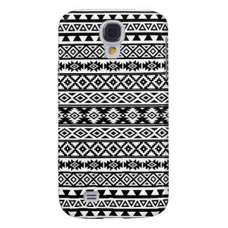 Galaxy S4 Covers Preto & branco estilizados astecas do teste padrão