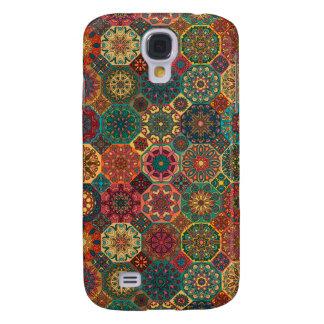 Galaxy S4 Covers Retalhos do vintage com elementos florais da