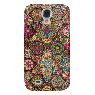 Galaxy S4 Covers Retalhos do vintage com elementos florais da