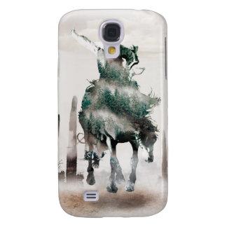 Galaxy S4 Covers Rodeio - exposição dobro - vaqueiro - vaqueiro do
