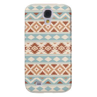 Galaxy S4 Covers Terracottas azuis de creme astecas de Ptn IIIb da