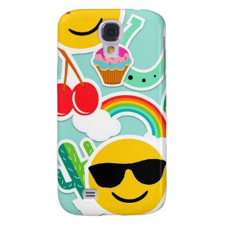 Galaxy S4 Covers Teste padrão da etiqueta de Emoji do divertimento