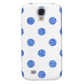Galaxy S4 Covers Teste padrão de bolinhas azul elegante do brilho