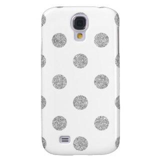 Galaxy S4 Covers Teste padrão de bolinhas de prata elegante do