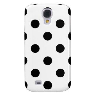 Galaxy S4 Covers Teste padrão de bolinhas preto e branco