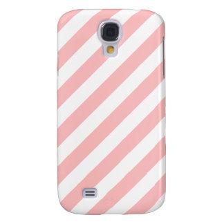 Galaxy S4 Covers Teste padrão diagonal do rosa e o branco das