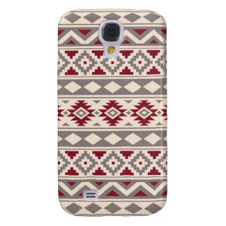Galaxy S4 Covers Vermelho de creme do Taupe de IIIb do teste padrão