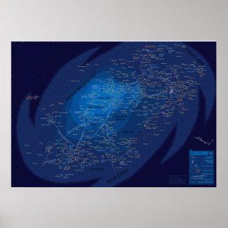 Galaxymap, Papel afixar (mate) Pôster