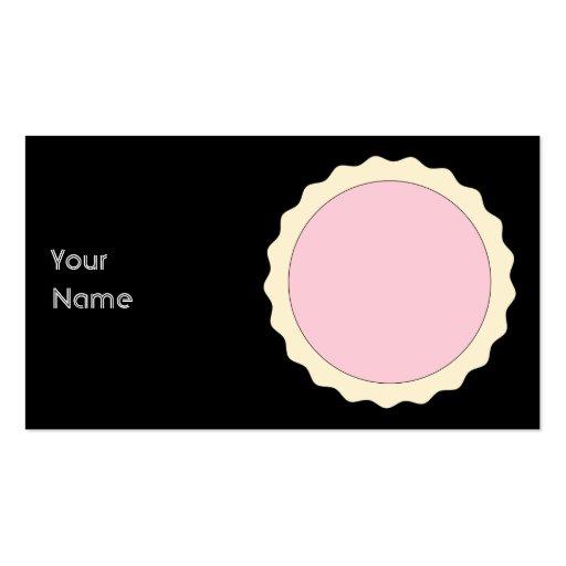 Galdéria do doce. Rosa pálido. Cartões De Visitas