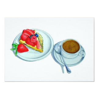 Galdéria e café da baga convite personalizado