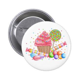 Galdérias do doce do pirulito dos doces do cupcake botons