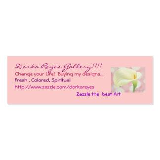 Galeria de Dorka Reyes em Zazzle Cartão De Visita Skinny