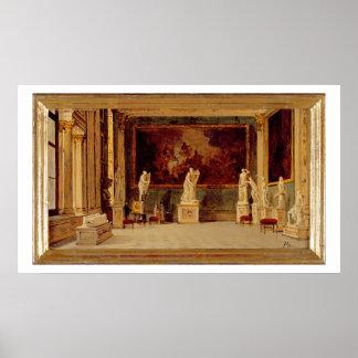Galeria no palácio de Pitti, Florença da escultura Posters
