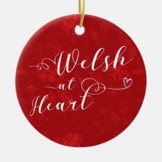 Galês no coração, ornamento da árvore de Natal,