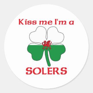 Galês personalizado beija-me que eu sou Solers Adesivo Redondo