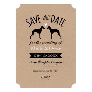 Galgos italianos que Wedding economias a data Convite 12.7 X 17.78cm