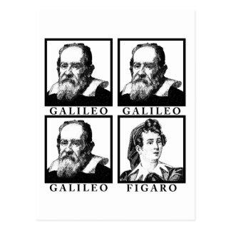 Galileo Figaro BW Cartão Postal