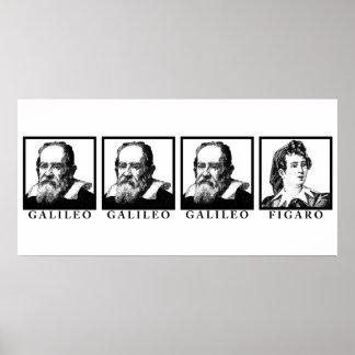 Galileo Figaro BW Posteres