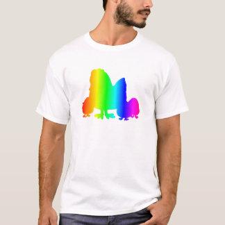 Galinha 3 do arco-íris camiseta
