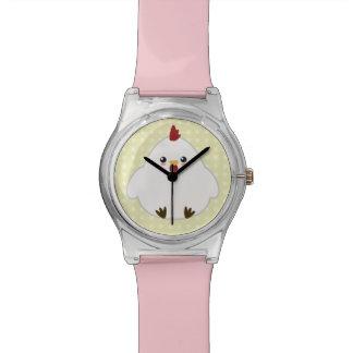 Galinha bonito relógio de pulso