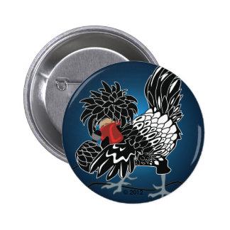 Galinha com crista polonesa de balanço botons