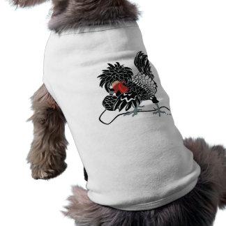 Galinha com crista polonesa de balanço camisa sem mangas para cachorro
