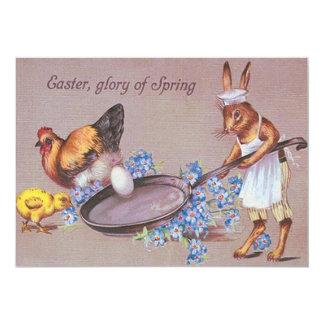 Galinha do pintinho do ovo do cozinhar do convite 12.7 x 17.78cm