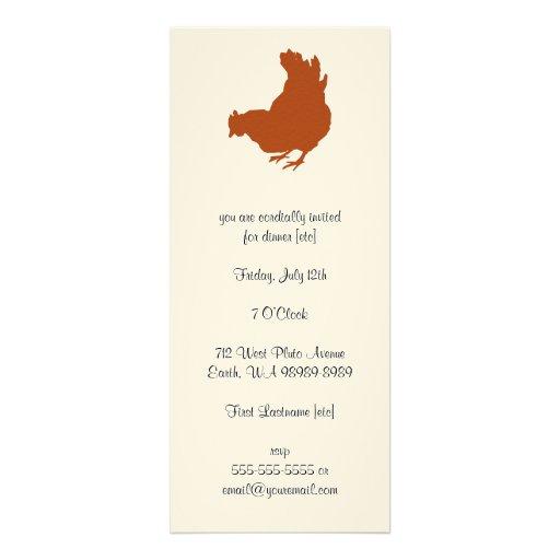 Galinha [galinha, fazendeiro, ovos orgânicos] convites personalizados