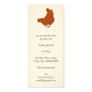 Galinha [galinha, fazendeiro, ovos orgânicos] convite 10.16 x 23.49cm