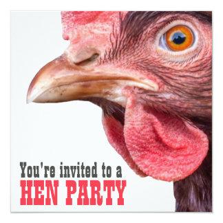 Galinha grande da festa de solteira das senhoras convites