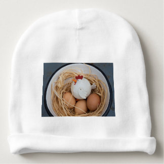 Galinha & ovos gorro para bebê