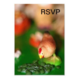 Galinha pequena convite personalizado