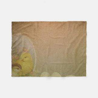 Galinha rústica da páscoa do vintage cobertor de velo