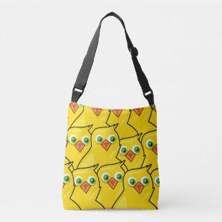 Galinhas amarelas brilhantes bonitas da páscoa bolsas carteiro