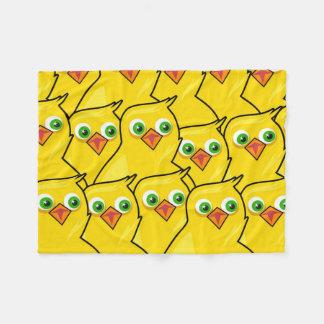 Galinhas amarelas brilhantes bonitas da páscoa cobertor de velo