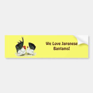 Galinhas anãs de Blacktail do japonês Adesivo Para Carro