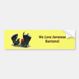 Galinhas anãs japonesas Mottled Adesivo Para Carro