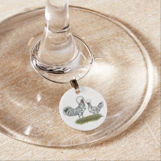 Galinhas polonesas do respingo enfeite de taças de vinho