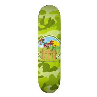 Galo; camo verde-claro, camuflagem skate