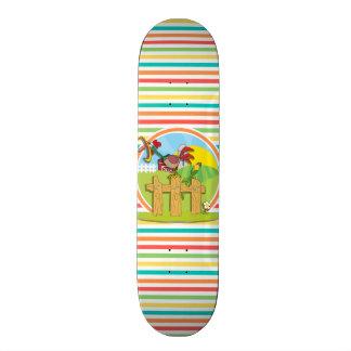 Galo; Listras brilhantes do arco-íris Skateboard