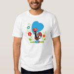 Galo português da sorte camisetas