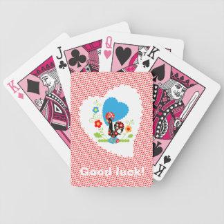 Galo português de cartões de jogo da sorte baralhos para pôquer