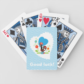 Galo português de cartões de jogo da sorte cartas de baralho