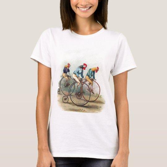 Galos da equitação camiseta