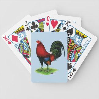 Gamecock:  Escuro - vermelho Baralho Para Poker